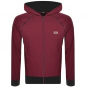 Product Image for BOSS Bodywear Lounge Full Zip Hoodie Burgundy