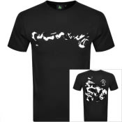 Product Image for Money Crew Neck Camo Logo T Shirt Black