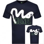 Product Image for Money Crew Neck Logo T Shirt Navy