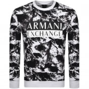 Product Image for Armani Exchange Crew Neck Logo Sweatshirt White