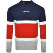 Product Image for Tommy Jeans Retro Colour Block Sweatshirt Navy
