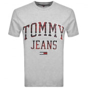 Product Image for Tommy Jeans Collegiate Logo T Shirt Grey