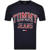 Product Image for Tommy Jeans Collegiate Logo T Shirt Navy