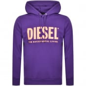 Product Image for Diesel S Gir Division Pullover Hoodie Purple
