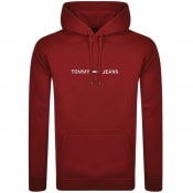 Product Image for Tommy Jeans Straight Logo Hoodie Red