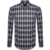 Product Image for BOSS Jason Slim Fit Long Sleeved Shirt Navy