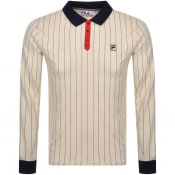 Product Image for Fila Vintage Long Sleeve Polo T Shirt Beige