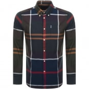 Product Image for Barbour Long Sleeved Dunnon Check Shirt Navy