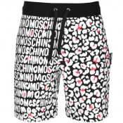 Product Image for Moschino Leopard Print Logo Shorts Black