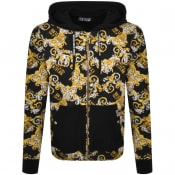 Product Image for Versace Jeans Couture Logo Hooded Jacket Black