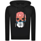 Product Image for Just Cavalli Skull Logo Hooded Sweatshirt Black
