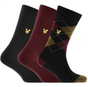 Product Image for Lyle And Scott Three Pack Logo Socks