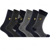 Product Image for Lyle And Scott Gift Set Six Pack Logo Socks