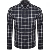 Product Image for Michael Kors Long Sleeved Slim Fit Shirt Navy