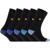 Product Image for Lyle And Scott Five Pack Socks Black