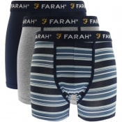 Product Image for Farah Vintage Klaff 3 Pack Boxer Shorts Navy
