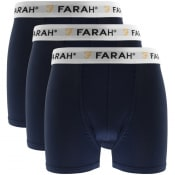 Product Image for Farah Vintage Hamill 3 Pack Boxer Shorts Navy
