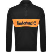 Product Image for Timberland Half Zip Logo Sweatshirt Black