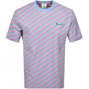 Product Image for Lacoste Live Stripe Logo T Shirt Blue