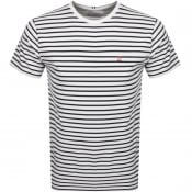 Product Image for Les Deux Sailor Stripe T Shirt White