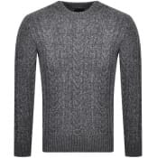 Product Image for Superdry Crew Neck Jacob Cable Knit Jumper Grey