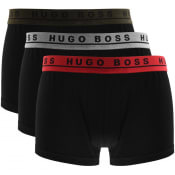 Product Image for BOSS Underwear Triple Pack Trunks Black