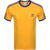 Product Image for Adidas Originals 3 Stripe T Shirt Yellow