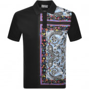 Product Image for Versace Jeans Couture Contrast Polo T Shirt Black