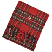 Product Image for Fred Perry Tartan Scarf Red