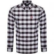 Product Image for Fred Perry Tartan Long Sleeved Shirt Blue