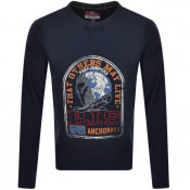 Product Image for Parajumpers Nate Crew Neck Sweatshirt Navy