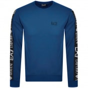 Product Image for EA7 Emporio Armani Taped Logo Sweatshirt Blue