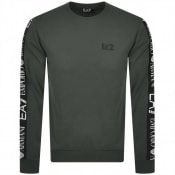 Product Image for EA7 Emporio Armani Taped Logo Sweatshirt Khaki