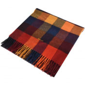 Product Image for Gant Twill Checked Wool Scarf Red
