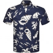 Product Image for Ralph Lauren Print Short Sleeve Shirt Navy