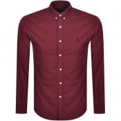 Product Image for Ralph Lauren Oxford Long Sleeved Shirt Red
