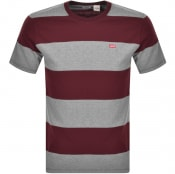 Product Image for Levis Original Crew Neck Logo T Shirt Burgundy