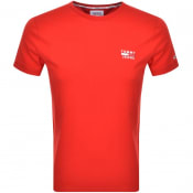 Product Image for Tommy Jeans Logo T Shirt Red