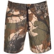 Product Image for adidas Originals Camouflage Print Shorts Brown