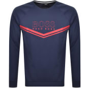 Product Image for BOSS Bodywear Lounge Crew Neck Sweatshirt Navy