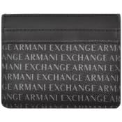 Product Image for Armani Exchange Leather Card Holder Black