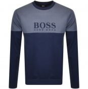Product Image for BOSS Bodywear Crew Neck Sweatshirt Blue