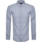 Product Image for BOSS Isko Slim Fit Long Sleeve Shirt Blue