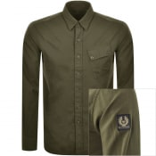 Product Image for Belstaff Long Sleeved Pitch Shirt Khaki