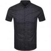 Product Image for Armani Exchange Slim Fit Short Sleeved Shirt Navy