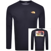 Product Image for The North Face Long Sleeved Logo T Shirt Navy