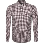Product Image for Fred Perry Gingham Check Shirt Mahogany