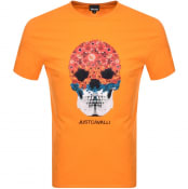 Product Image for Just Cavalli Skull Logo T Shirt Orange