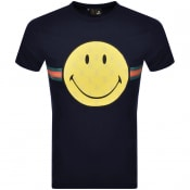 Product Image for Luke 1977 X Smiley Happy Days T Shirt Navy