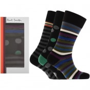 Product Image for Paul Smith Gift Set 3 Pack Socks Black
